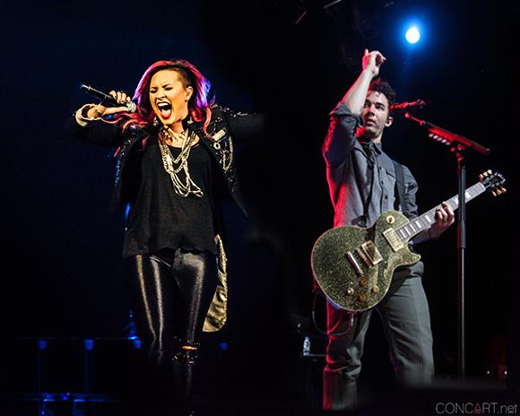 Demi Lovato & Nick Jonas at The Forum