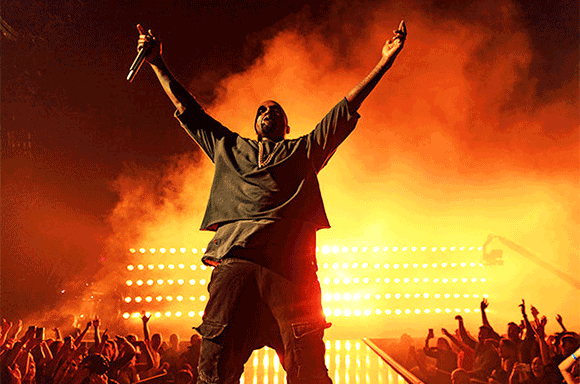 Kanye West at The Forum