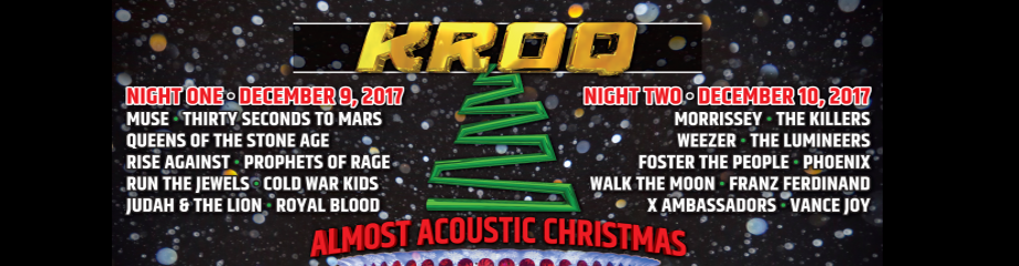KROQ Almost Acoustic Christmas: Morrissey, The Killers, Weezer, The Lumineers & Foster The People at The Forum