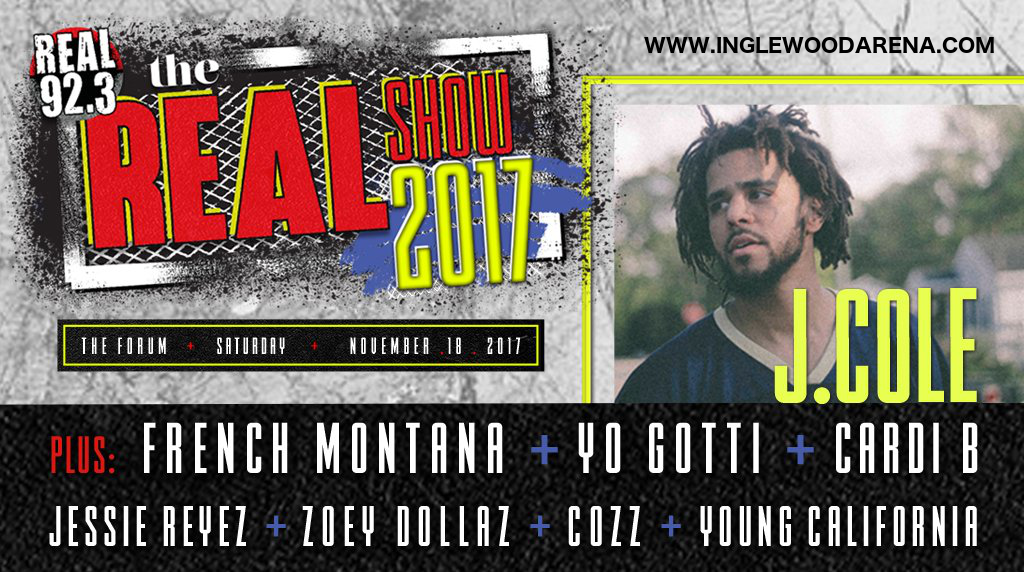 Real 92.3 The Real Show: J. Cole, French Montana, Yo Gotti & Cardi B at The Forum