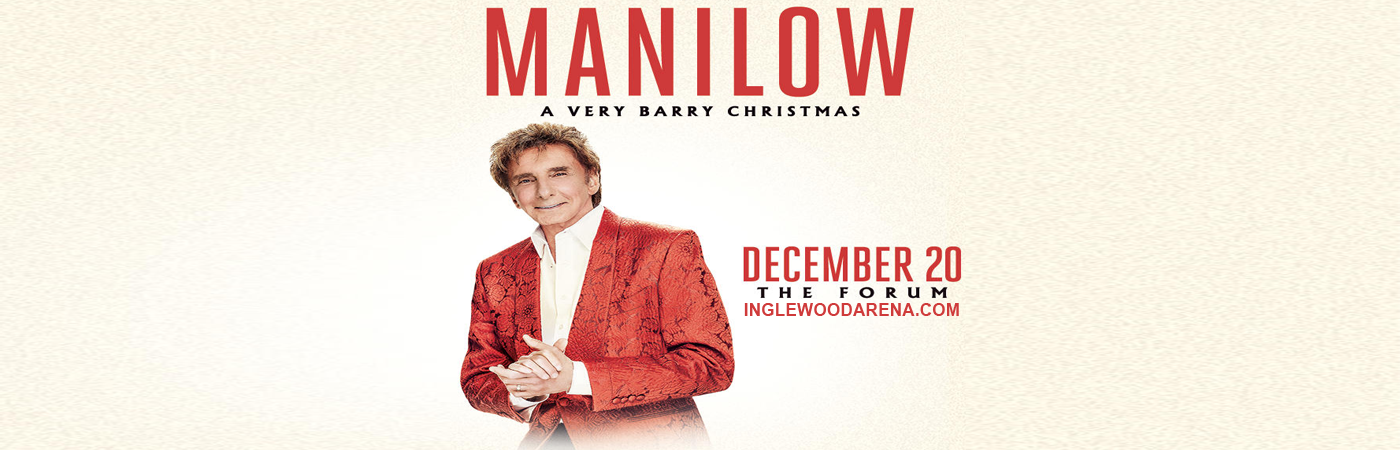 Barry Manilow Tickets | 20th December | The Forum | Inglewood ...