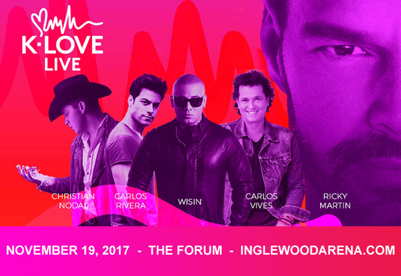 K-Love Live: Wisin, Ricky Martin, Carlos Vives & Yandel at The Forum