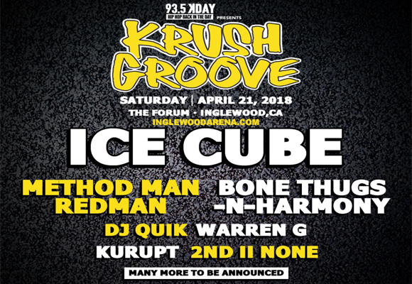 Krush Groove: Ice Cube, Method Man, Redman, Bone Thugs-N-Harmony, Warren G & DJ Quik at The Forum
