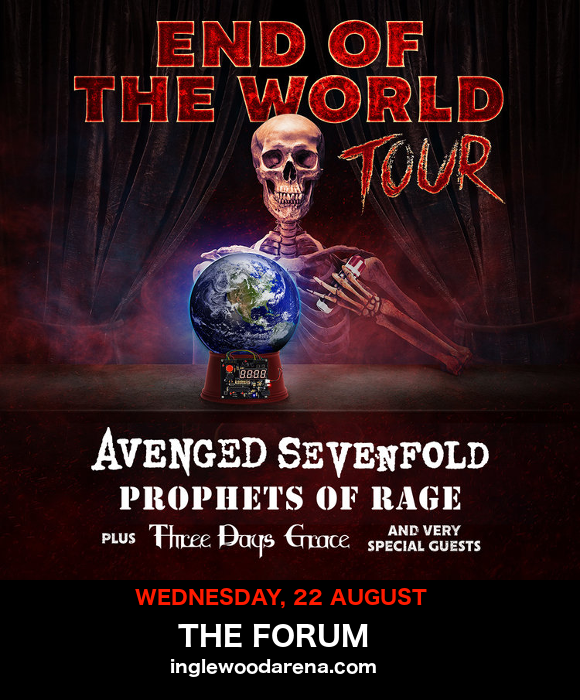 **Cancelled** End of the World Tour: Avenged Sevenfold, Prophets of Rage & Three Days Grace at The Forum