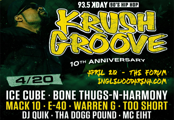 KDay Krush Groove: Ice Cube, Bone Thugs-N-Harmony, Mack 10, Warren G, Too Short & DJ Quik at The Forum