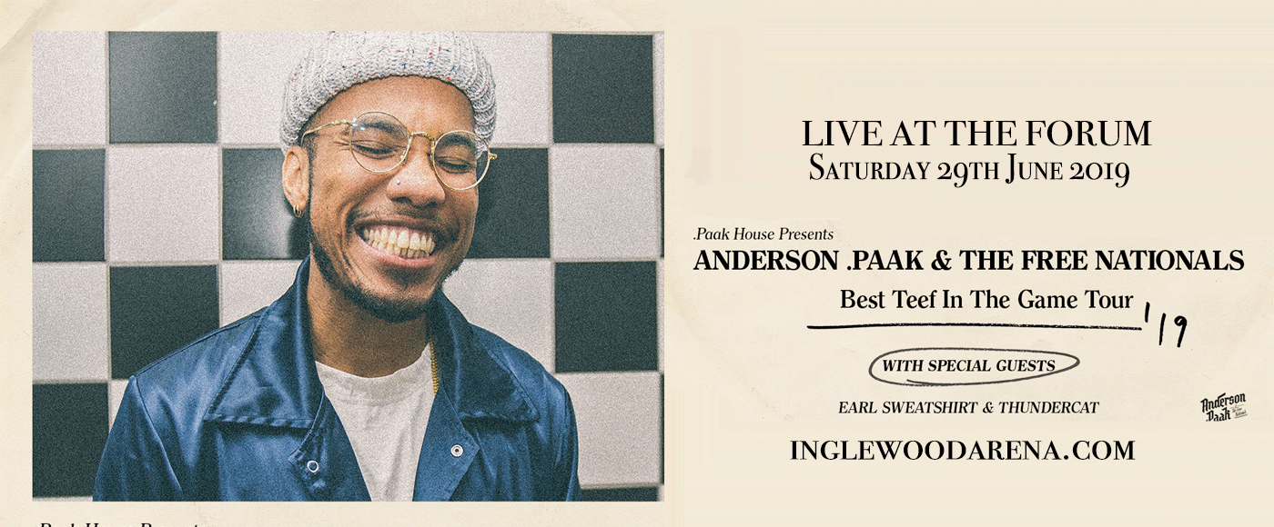Anderson .Paak at The Forum
