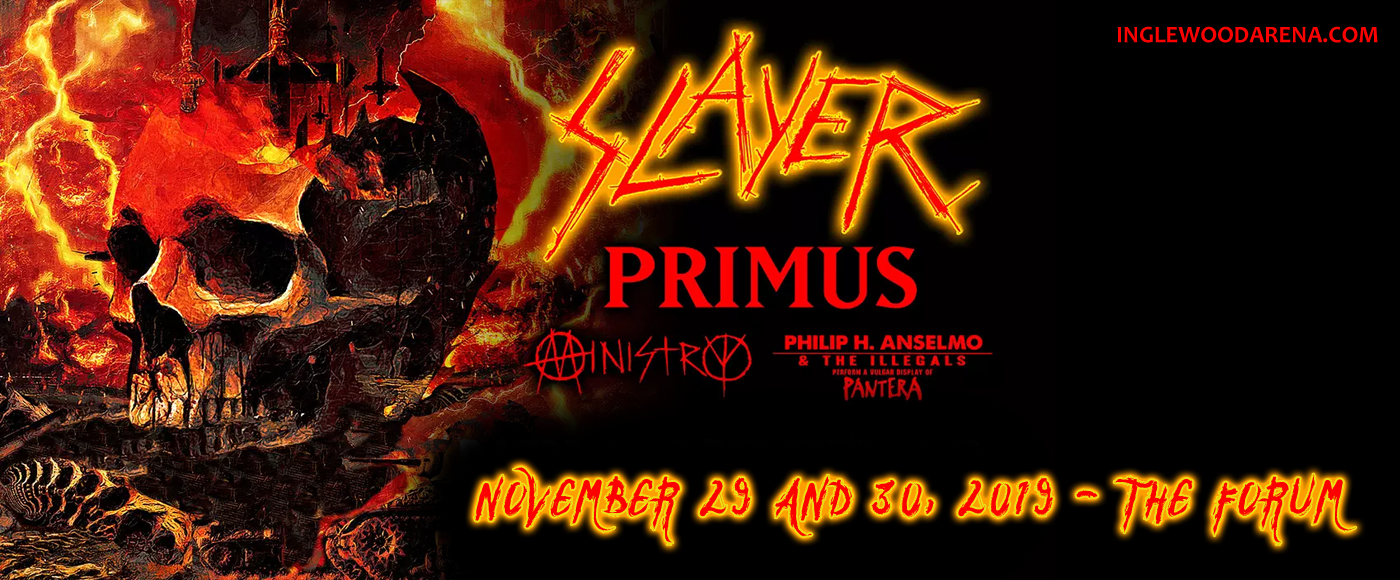 Slayer, Primus, Ministry & Philip H. Anselmo at The Forum