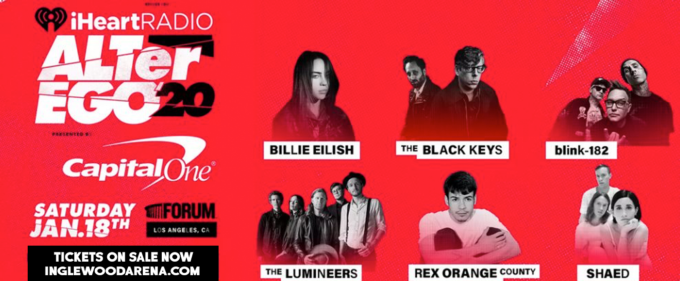 iHeartRadio ALTer Ego: Billie Eilish, The Black Keys, Blink 182, The Lumineers, Rex Orange County & Shaed at The Forum